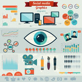 Flat design vector illustration concept for social media. — Stock vektor