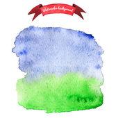 Watercolor spot for design elements — Stock Vector