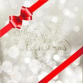 Silver jul bakgrund — Stockvektor