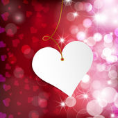 Happy Valentine's Day.  Greeting Card on red background — Vector de stock
