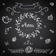 Vector set of design elements for the menu — Stock Vector #66197687