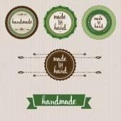Handmade. Original custom hand lettering. — Stock Vector