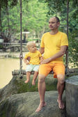 Baby en vader — Stockfoto