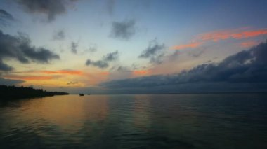 Sunset over the sea. Timelapse. Bohol, Philippines. — Stock Video