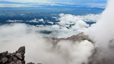 View from the top of the Merapi volcano. — Stock Video