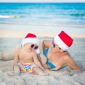 Christmas tropical — Stock Photo