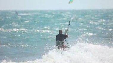 Kite surfista — Vídeo Stock