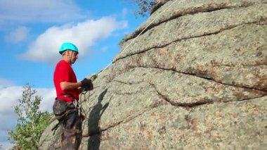 Alpinista — Vídeo Stock