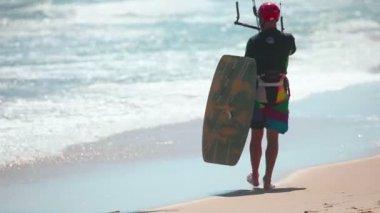 Kite surfer — Stock Video