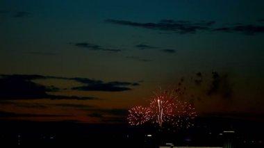 Fuochi d'artificio serali — Video Stock