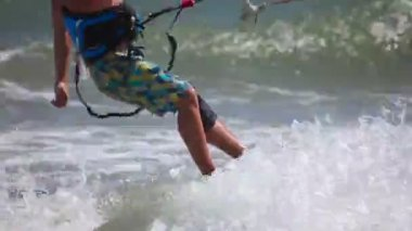 Kite surfer — Stock Video