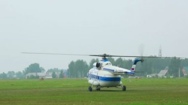 Helicopter take-off — Stock Video
