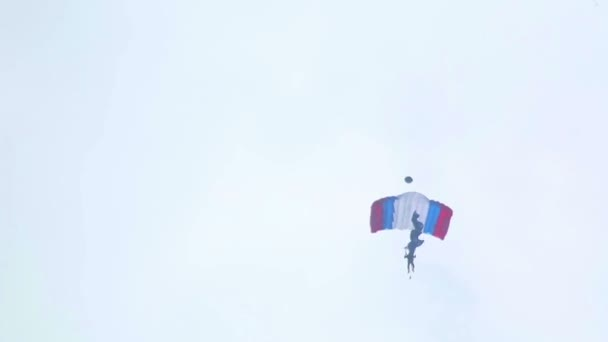 Paratrooper with flag descending — Vidéo