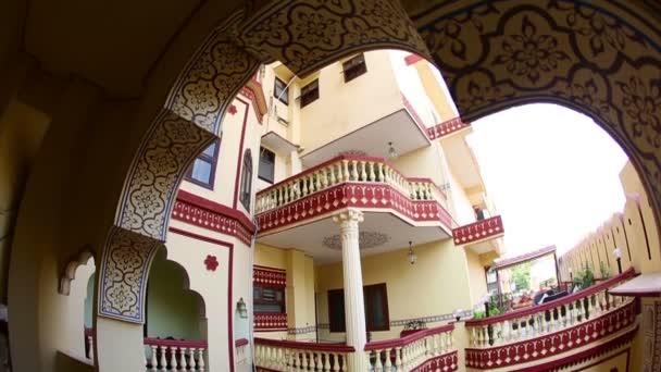 Hotel atrium at Jaipur, India — Vidéo