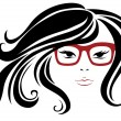 Постер, плакат: Woman in stylish red glasses
