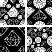 Seamless pattern from diamond — Stock Vector