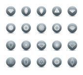 Vector set of diamond icons  — Stock Vector