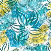 Seamless watercolor floral pattern — Stock Photo