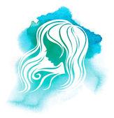 Kadın saç şekillendirme — Stok fotoğraf