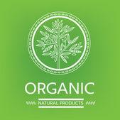Logotipos naturais orgânicos — Vetor de Stock
