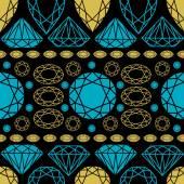 Pattern from diamond — Stockvector