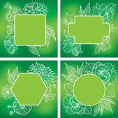 Vector set of organic natural frames  — Stock Vector