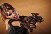 Steampunk woman. Fantasy fashion — Stock Photo