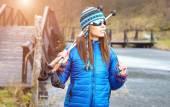 Active woman exercising outdoor — Stock Photo