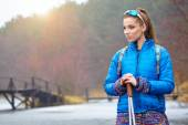 Active woman exercising outdoor — Foto de Stock