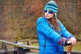 Active woman exercising outdoor — Stock fotografie
