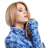 Expressive portrait of blonde girl — Stock Photo