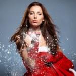 Beautiful Christmas Woman — Stock Photo #57268279