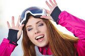 Sport woman in ski goggles  — Stock fotografie
