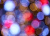 Defocused ligths of Christmas tree — Stock Photo