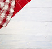 Red folded tablecloth — Stock fotografie