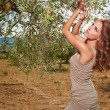Woman under an olive tree — Stock Photo #63546041