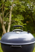New barbecue grill in summer garden — Stock Photo