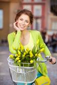 Fashion style photo of a spring woman — Stock Photo