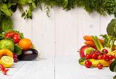 Frukt och grönsaker gränser — Stockfoto