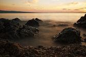 Sunset on adriatic sea — Stockfoto