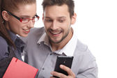 Couple taking selfie — Stock Photo