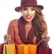 Woman with shopping bags — Stock Photo #79679982