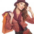 Woman with shopping bags — Stock Photo #79680010
