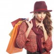 Woman with shopping bags — Stock Photo #79680032