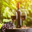 Glasses of red wine — Stock Photo #82586200
