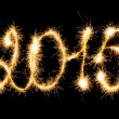 Happy New Year - 2015 made a sparkler — Stock Photo #54039095