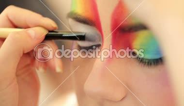 Eye make-up — Stock Video