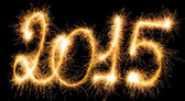 Happy New Year - 2015 with sparklers — Stock Photo