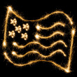 Flag of USA made of sparkles on black — Stock Photo #57785713