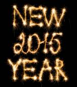 Happy New Year 2015 made of sparkles on black — Foto de Stock